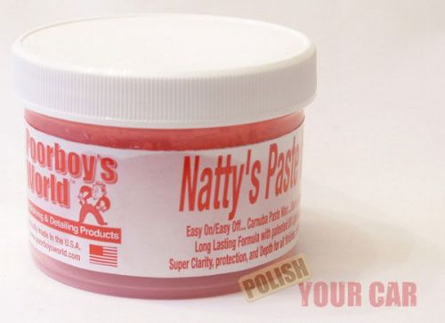 Poorboys Nattys Carnuba Paste Wax Red